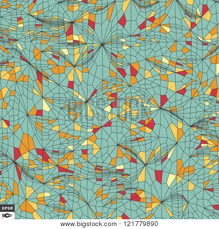 Colorful Mosaic. Abstract Background. Polygonal Vector Illustration.