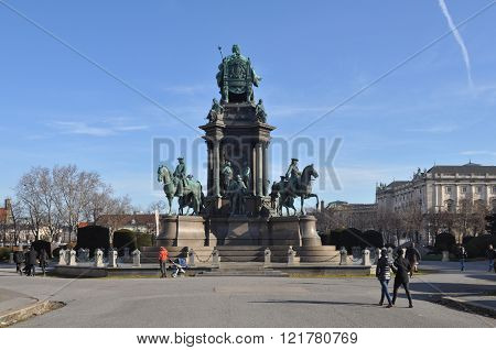 Maria Theresa Monument In Wien