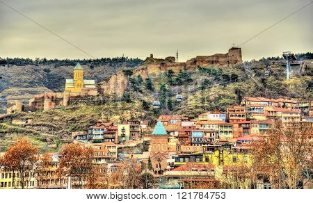 Narikala fortress above the old town of Tbilisi