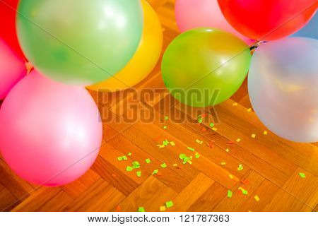 A Lot Of Balloons On The Floor