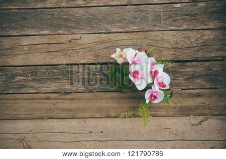 Beautiful Bouquet On Wooden Background