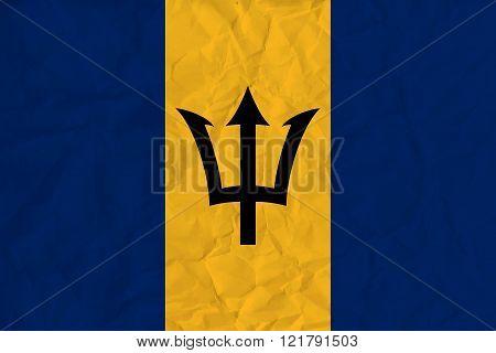 Barbados paper flag