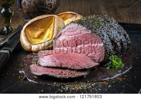 Roast Venison with Yorkshire Pudding