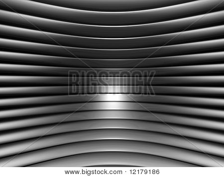 Aluminum abstract silver curve stripe pattern background 3d illustration poster