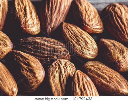 Almonds , Macro, Healthy, Tasty , Top View