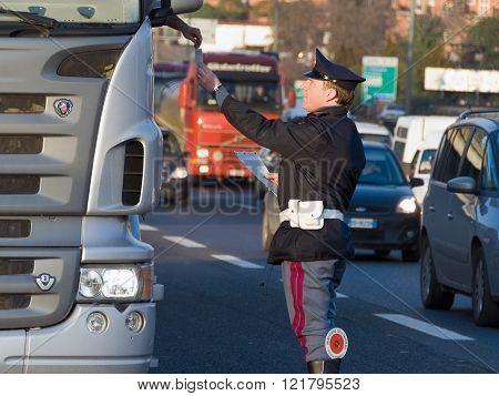 Traffic Controls, Italian Police