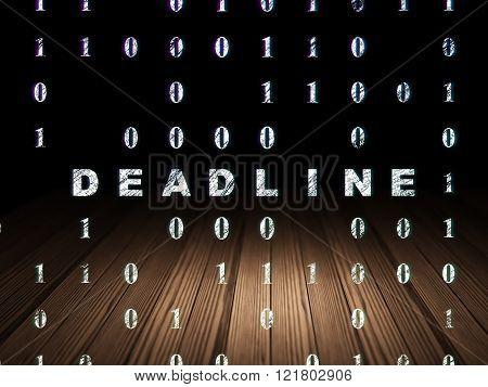 Finance concept: Deadline in grunge dark room