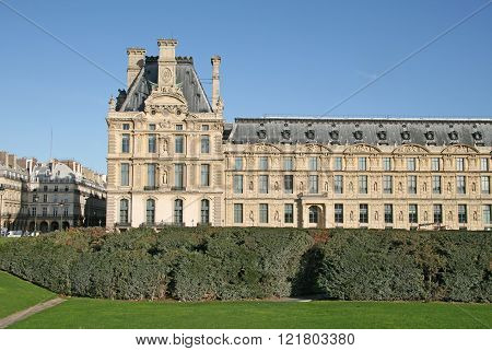Paris, France - November 27, 2009: The Building Of The Decorative Arts Library Near Tuileries Garden
