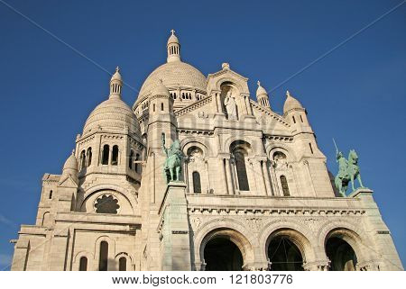 Paris, France - November 27, 2009: Details Of The Basilica Of The Sacred Heart Of Paris (sacre-coeur