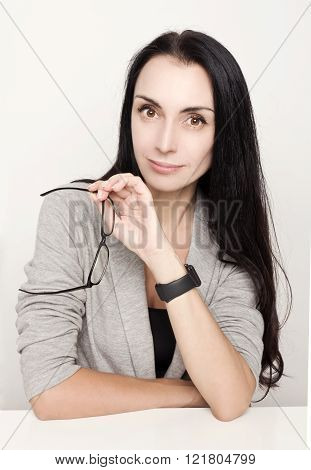Portrait attractive mature business woman