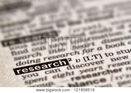 Research Word Definition Text