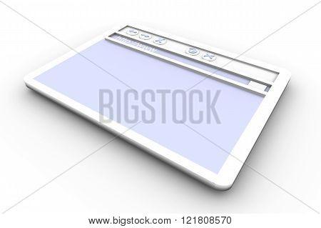 Image of a Browser Window. 3d rendered illustration