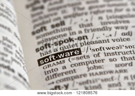 Software Word Definition Text