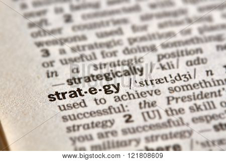 Strategy Word Definition Text