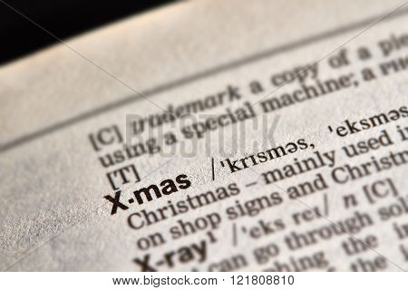 X-mas Word Definition Text