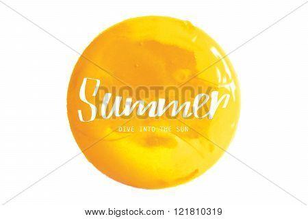 Yellow Watercolor Banner