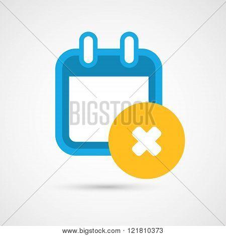 Vector Calendar Icon - delete
