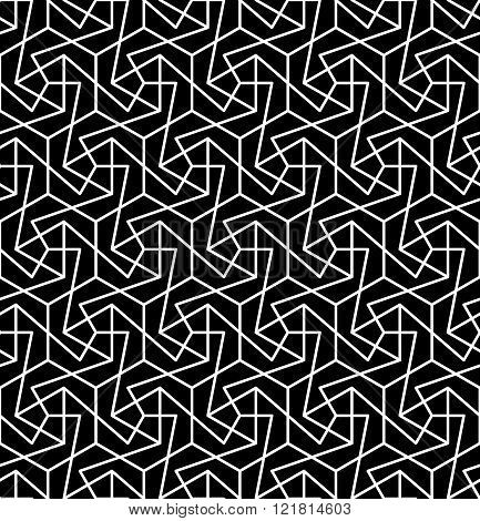 Vector modern seamless geometry pattern messy black and white abstract