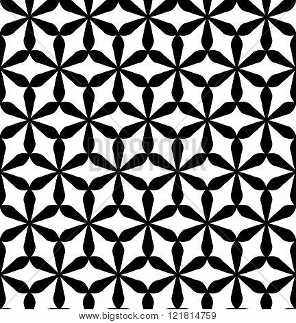 Vector modern seamless geometry pattern flower of life black and white abstract
