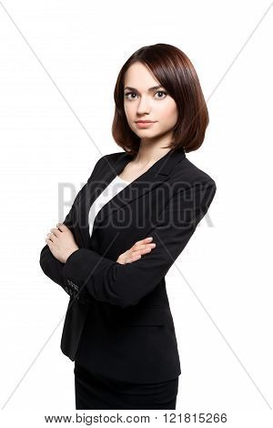Business woman portrait. Crossed arms.