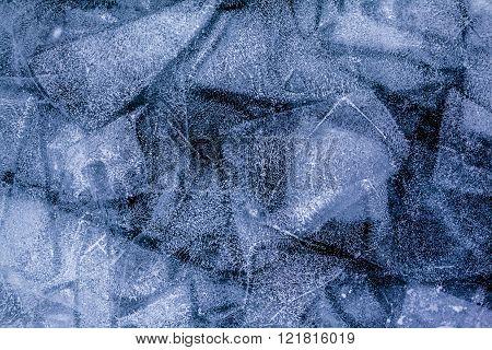 Ice patterns of frozen lake Baikal