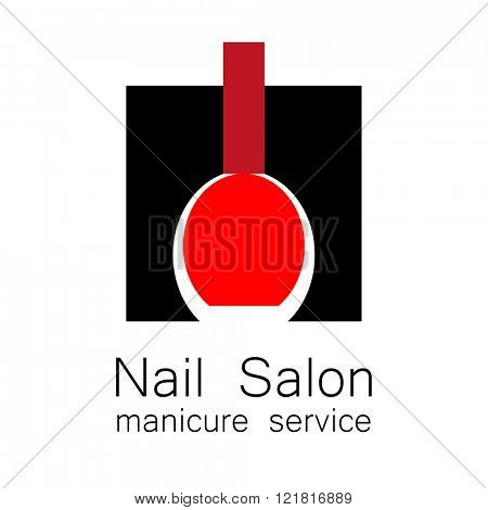 Nail salon logo symbol manicure vector photo bigstock nail salon logo symbol of manicure design sign nail care beauty industry ccuart Choice Image