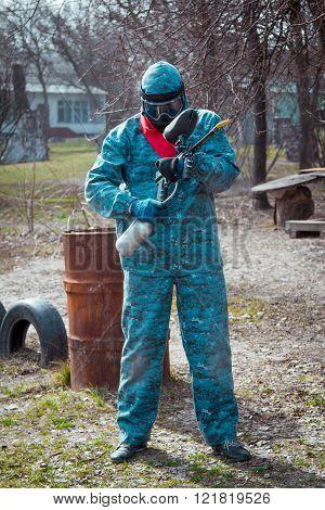 Man - paintball player