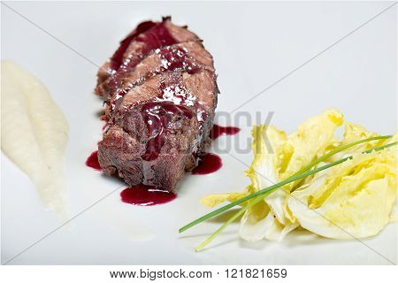 Veal Cheek With Balsamic Reduction