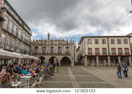 Oliveira Square, In The Historical Center Of Guimaraes.