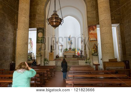Inside Of Monte De Santa Catarina Or Penha Mountain Church