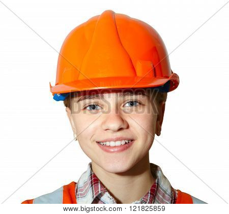 Young Contractor On White Background
