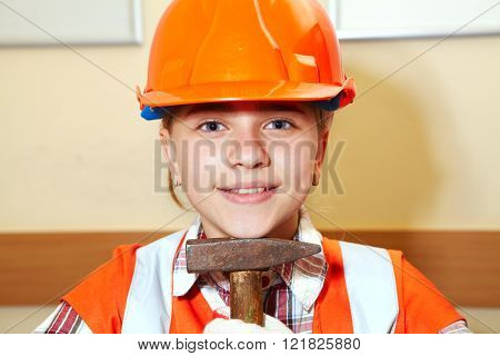 Young Contractor And Hammer