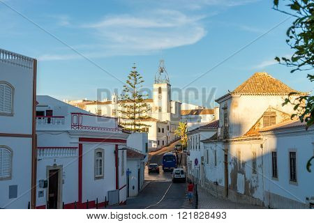 View In Historic Center Of Albufeira, Algarve, Portugal.
