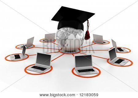 concepto de e-learning 3D
