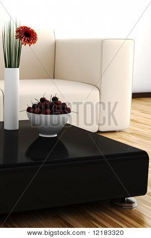 3d interior design lig by warm daylight