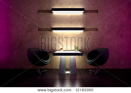 3d bar intimate atmosphere and interior design