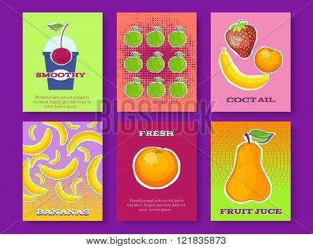 Healthy diet  cards.