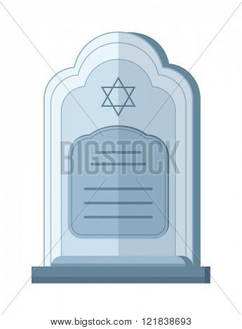 Tombstone crypt vector construction for dead people isolated on white background.