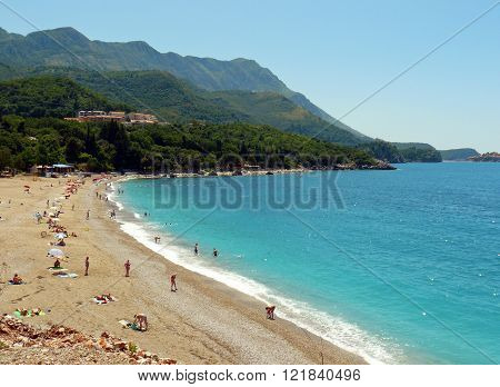 View of Becici resort near Budva, Montenegro poster