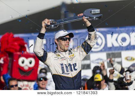 Las Vegas, NV - Mar 06, 2016: Brad Keselowski (2) wins the Kobalt 400 at the Las Vegas Motor Speedway in Las Vegas, NV.