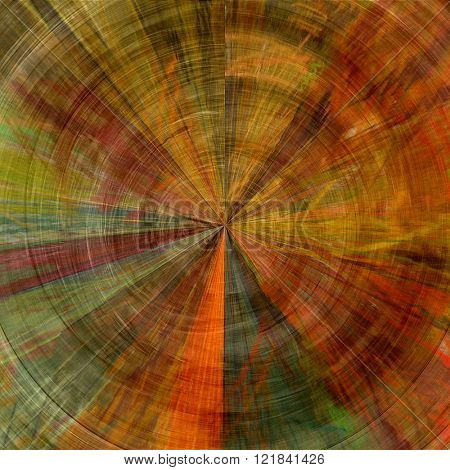 art abstract graphic spherical colored background in green, orange and red colors; geometric pattern