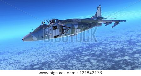 A pilot takes a fighter jet through flight maneuvers on a training mission.