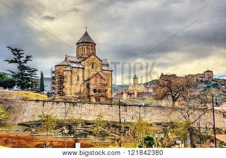 Metekhi Church in Tbilisi, Georgia.