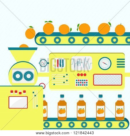 Industrial Production Of Orange Juice