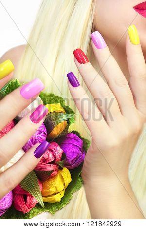 Manicure bouquet.