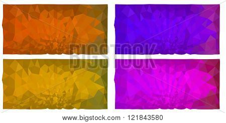 The set of 4 colored abstract triangulated background in EPS 8 format.