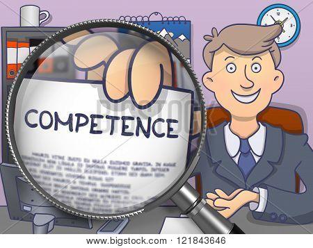 Competence through Lens. Doodle Concept.