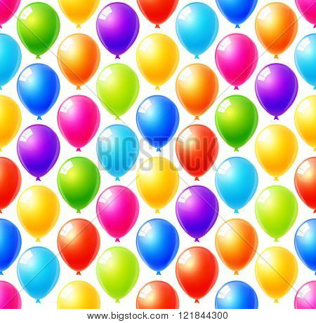Seamless Pattern Of Colorful Balloons Background