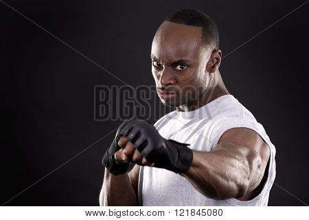 Fitness Man On Dark Background