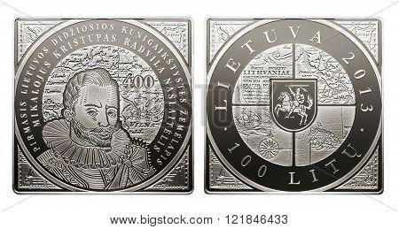 commemorative circulation 100 litas coin